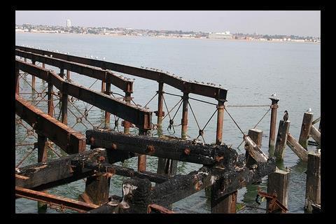 Southend pier fire damage